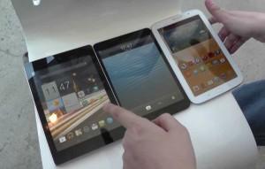 Acer Iconia A1 vs Apple iPad mini vs Galaxy Note 8.0
