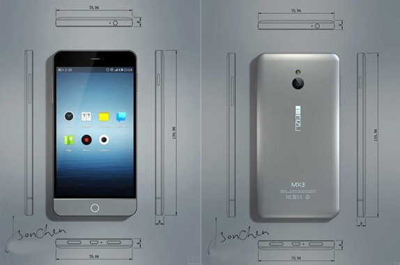 Meizu MX3 image, specs and features leaked before its Official announcement