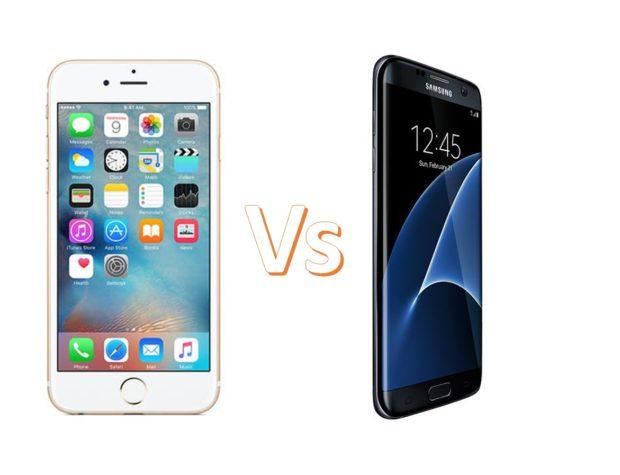 Apple iPhone 6S Vs Samsung Galaxy S7
